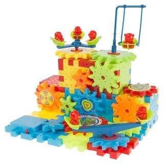 81 Pc. Interlocking Gear Building Set- STEM Learning Toy, Fun Moving Mechanical Construction Blocks Hey! Play!
