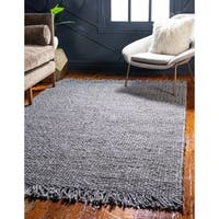 Unique Loom Chunky Jute Area Rug - 8' x 10'