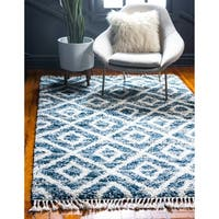 Unique Loom Diamond Hygge Shag Area Rug - 8' x 10'