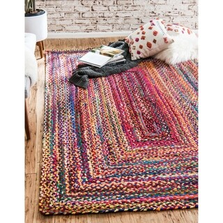 Unique Loom Braided Chindi Area Rug - 12' 2 x 16'