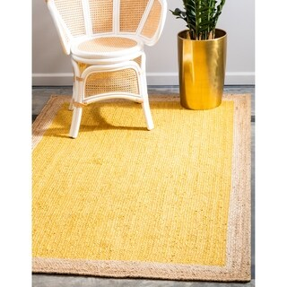 Unique Loom Braided Jute Area Rug - 2' x 3'