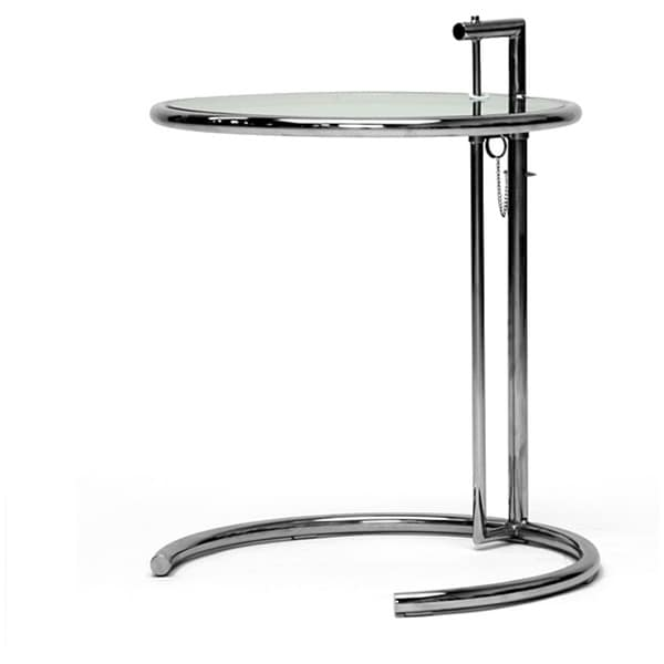 eileen gray stainless steel accent table free shipping today 10537708. Black Bedroom Furniture Sets. Home Design Ideas