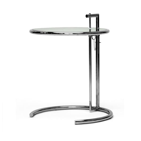Eileen Gray Stainless Steel Accent Table   Free Shipping Today    Overstock.com   10537708