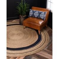 Unique Loom Braided Jute Round Rug - 3' 3 x 3' 3