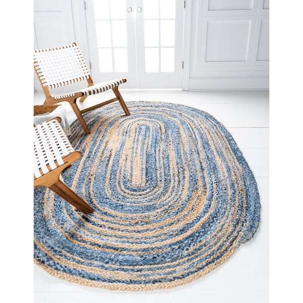 Unique Loom Braided Chindi Area Rug