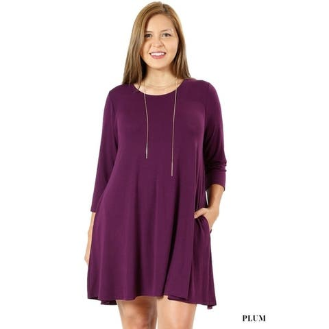 51c9c52898 Buy Purple Women s Plus-Size Tops Online at Overstock