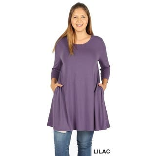 a4e5e71270f61 Buy Purple Women s Plus-Size Tops Online at Overstock