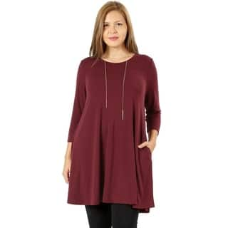 fe3ae2692d7e1 Buy Tunic Women s Plus-Size Tops Online at Overstock