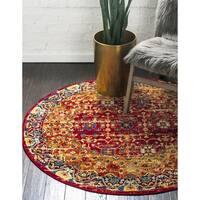 Unique Loom Hoya District Round Rug - 5' x 5'