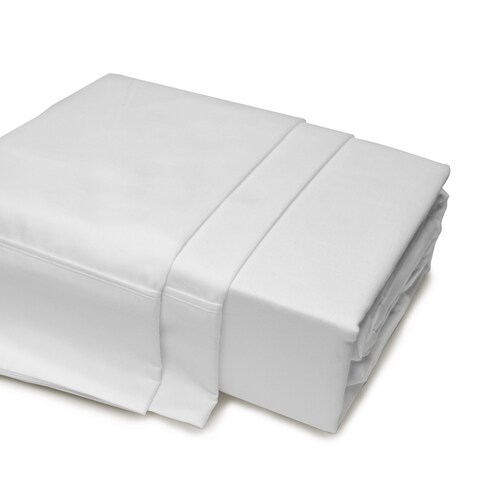 500 Thread Count Egyptian Cotton Sheet Set Queen White