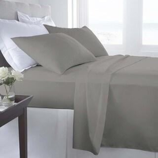 500 Thread Count Egyptian Cotton Sheet Set Queen Lt. Grey