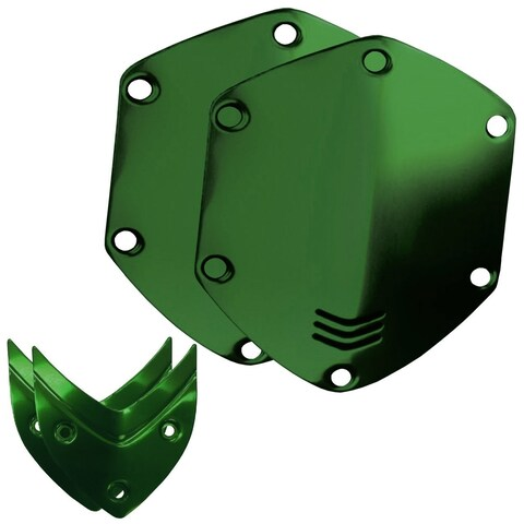V-MODA Over-Ear Custom Aluminum Shield Kit - Hawk Green - N/A