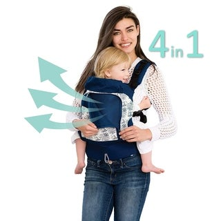 LILLEbaby 4 in 1 ESSENTIALS All Seasons Baby Carrier Seven Seas Navy