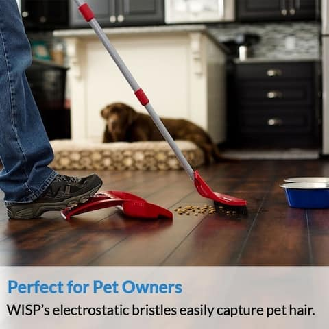 WISPsystem Telescoping Broom and Dustpan with WISPaway Hanger