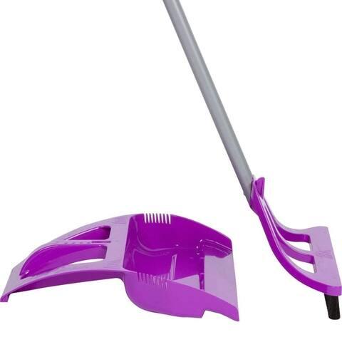 WISPsystem Telescoping Broom and Dustpan with WISPaway Hanger