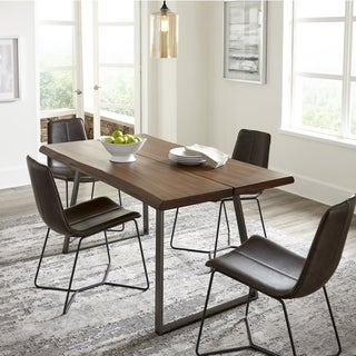 Grain Wood Furniture Live Edge industrial Dining Table - Light Oak - 63x36x30