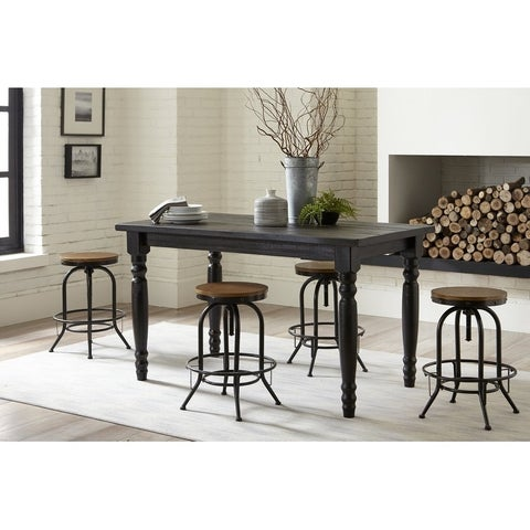 Grain Wood Furniture Valerie Counter high Solid Wood Table - 63x36x36