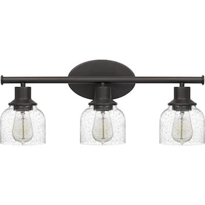 Strick & Bolton Emile 3-light Seedy Glass Vanity Light