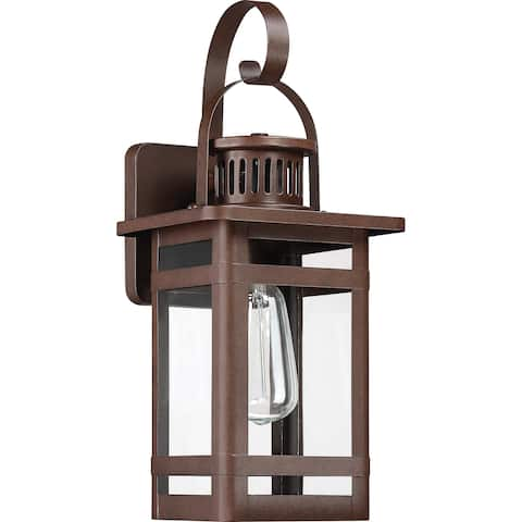 Havenside Home Coro Copper Bronze 1-light Clear Glass Outdoor Wall Lantern