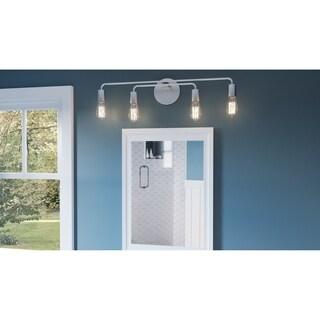 Kento Brushed Nickel 4-light Bathroom Vanity Light