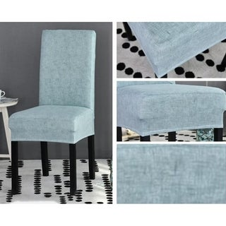 Spectra Removable Dining Chair Spandex/Ployester Slipcovers (Light Blue)