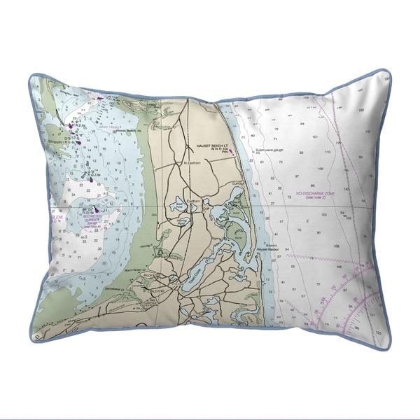 Cape Cod - Nauset Beach, MA Nautical Map Pillow 16x20