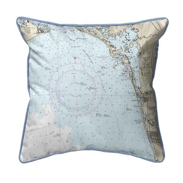 Estero Bay, Bonita Springs, FL Nautical Map Pillow 18x18