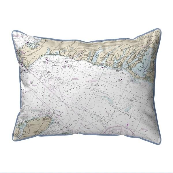 Falmouth Harbor, MA Nautical Map Pillow 16x20