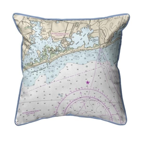 Block Island Sound - Charleston, RI Nautical Map Pillow