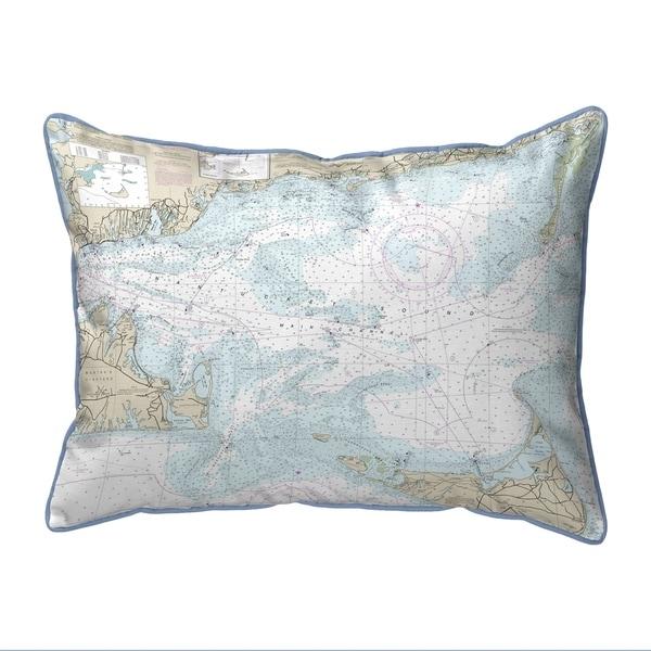 Nantucket Sound, MA Nautical Map Pillow 16x20