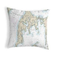 Cambridge Md Nautical Map Noncorded Indoor Outdoor Pillow 18x18 On Sale Overstock 22878513