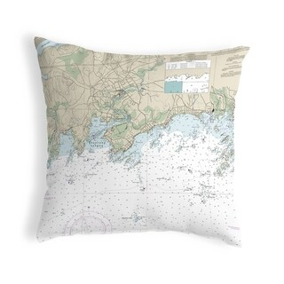 Branford Harbor - Indian Neck, CT Nautical Map Noncorded Pillow