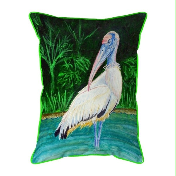 Wood Stork Large Indoor/Outdoor Pillow 16x20