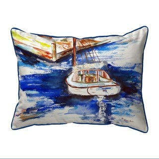Sailboat & Dock Large Pillow 16x20
