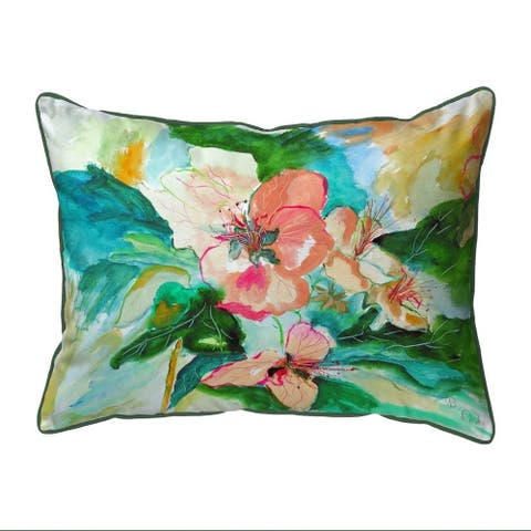 Apple Blossoms Large Indoor/Outdoor Pillow 16x20