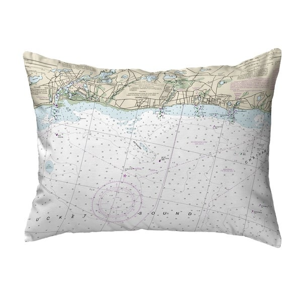 Harwich Port, MA Nautical Map Noncorded Indoor/Outdoor Pillow 16x20
