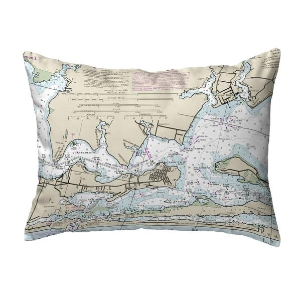 Orange Beach, AL Nautical Map Noncorded Indoor/Outdoor Pillow 16x20