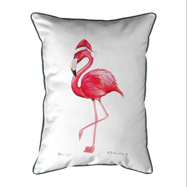 Flamingo Santa Small Pillow 11x14