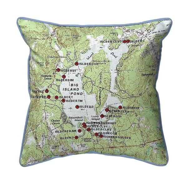 Big Island Pond, NH Nautical Map Pillow 18x18