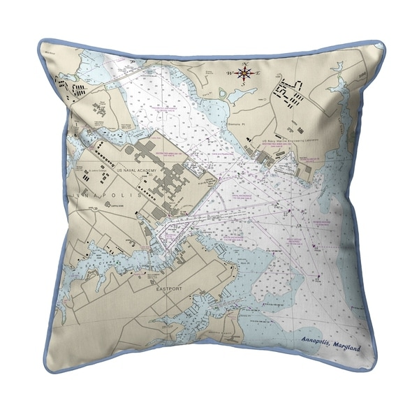 Annapolis - USNA, MD Nautical Map Small Pillow 12x12