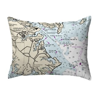 Annapolis Md Nautical Map Noncorded Indoor Outdoor Pillow 16x20 On Sale Overstock 22878466