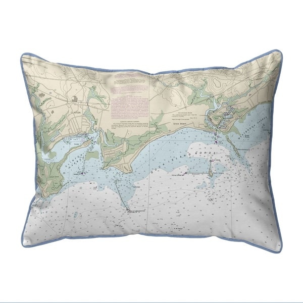 Clinton Harbor to Westbrook Harbor, CT Nautical Map Small Pillow