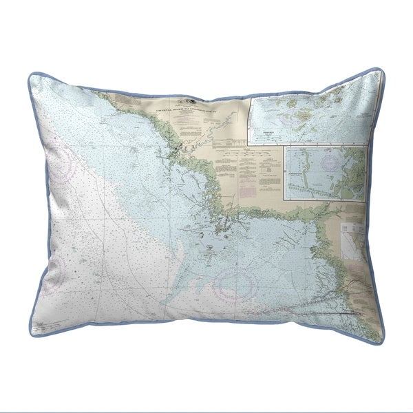 Crystal River to Horseshoe Point, FL Nautical Map Small Pillow