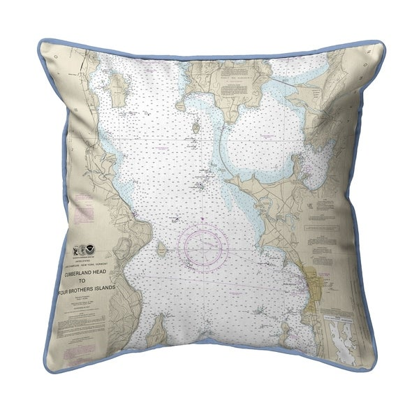 Cumberland Head to Four Brothers Islands, VT Nautical Map Small Pillow