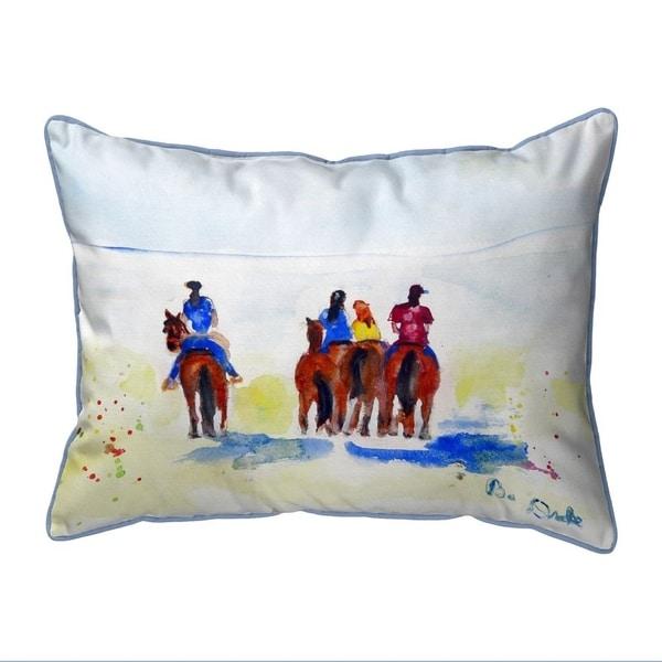Beach Riders Small Indoor/Outdoor Pillow 11x14