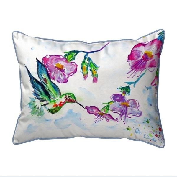 Feeding Hummingbird Small Indoor/Outdoor Pillow 11x14