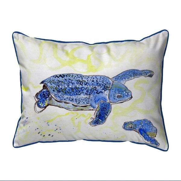 Sea Turtle & Eggs Small Indoor/Outdoor Pillow 11x14