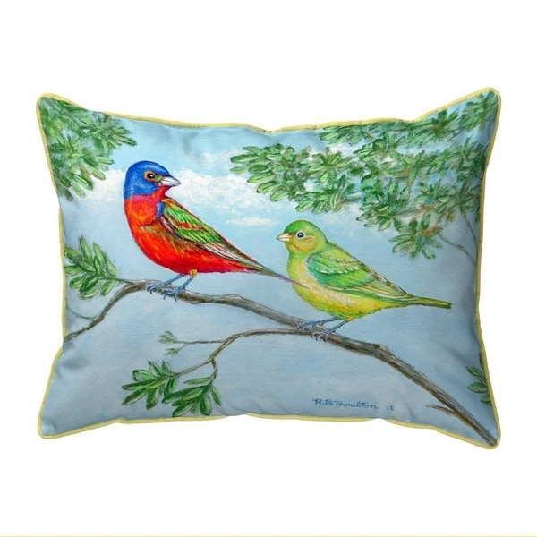 Pair of Buntings Small Indoor/Outdoor Pillow 11x14