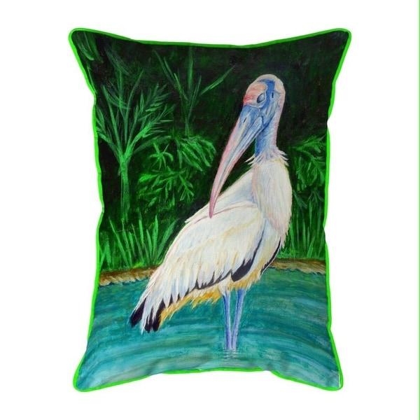 Wood Stork Small Indoor/Outdoor Pillow 11x14