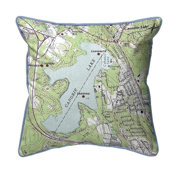 Canobie Lake, NH Nautical Map Small Pillow 12x12
